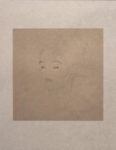 Sketch of a Child's Portrait  (Red and Blue Tinted) - Niyoda Paper