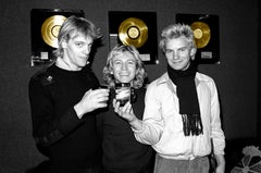 The Police 1978 Colorized Gold Records on Hahnemuehle paper