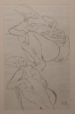 Two Women, Lying Down - Niyoda Paper