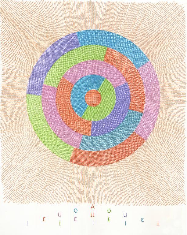 Brian O'Doherty Abstract Print - Rotating Vowels i