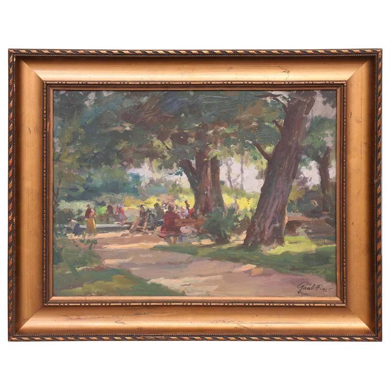 Ferenc Gaal Landscape Painting - Sunny Afternoon