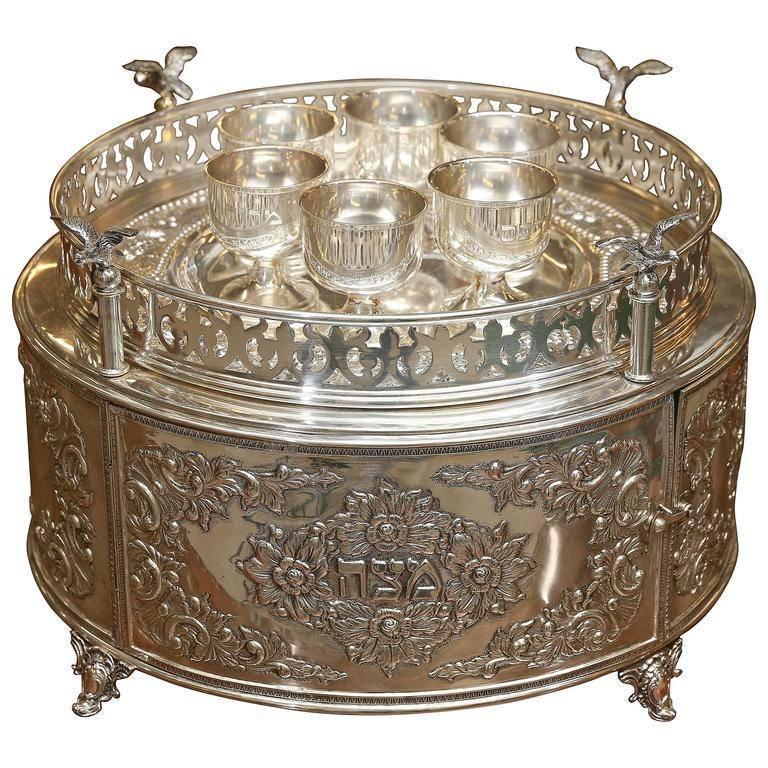 Silver Seder Plate from Hungary