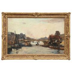La Seine Avec La Bateau