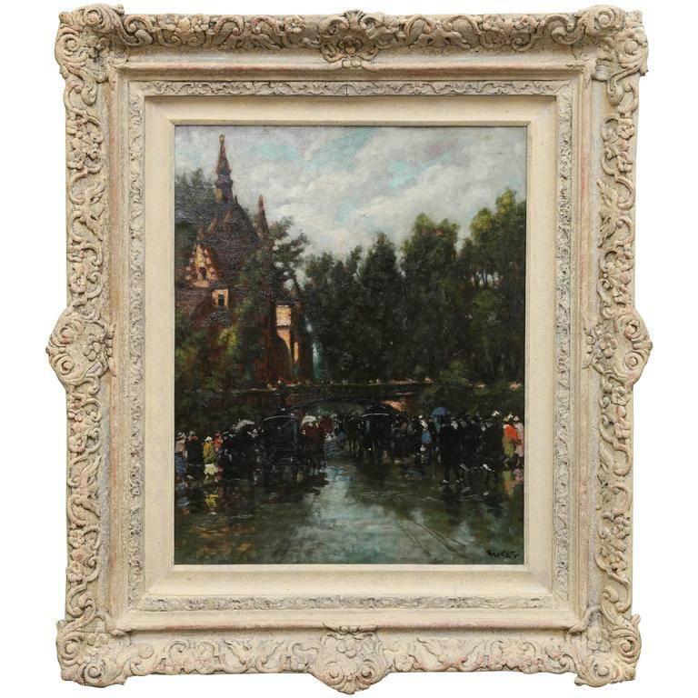 Antal Berkes Landscape Painting - La Belle Epoque