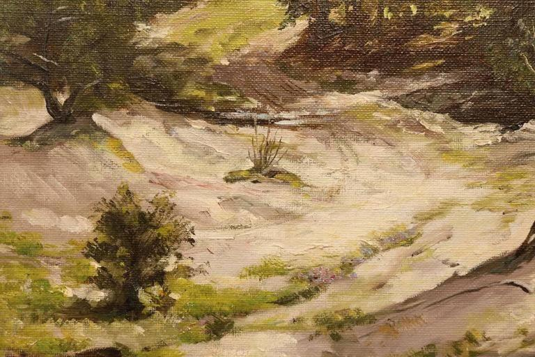Forest in Summer - Brown Landscape Painting by Harry Worthman