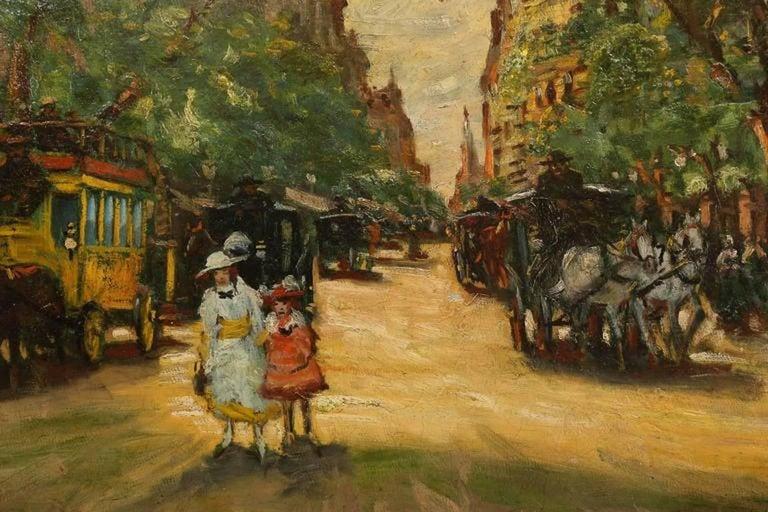 Spring in Paris - Painting by Antal Berkes