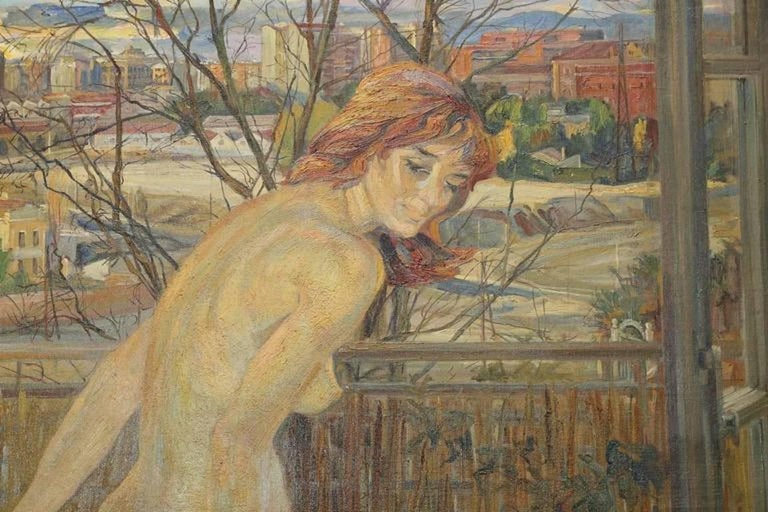 Nude by the Window - Painting by MacMahon