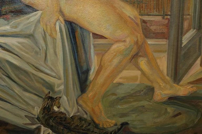 Nude by the Window - Other Art Style Painting by MacMahon