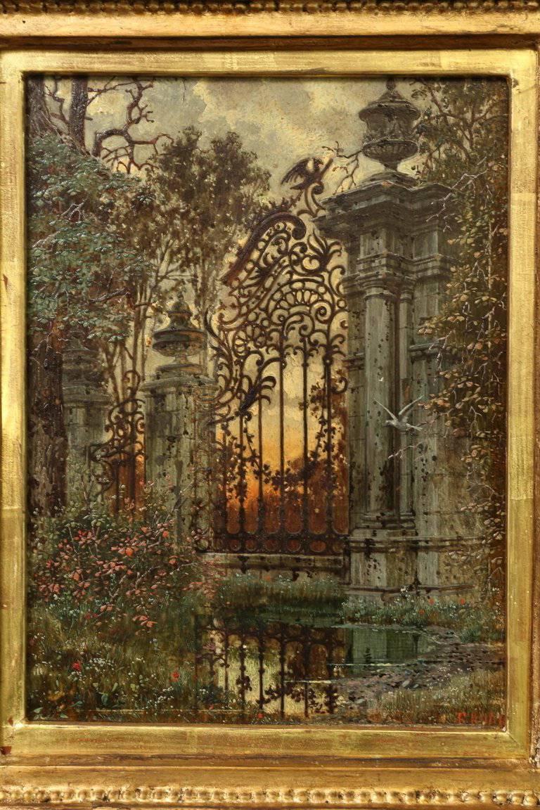 Ferdinand Knab - The Garden Gate, Painting at 1stdibs