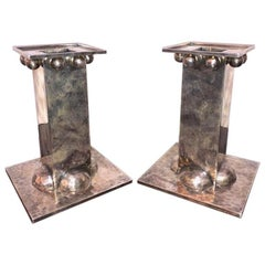 Silver plated French Candle Holders done by Jean Despres