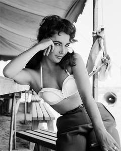 "Elizabeth Taylor Classic Portrait on the Set of ""Giant"" Fine Art Print"
