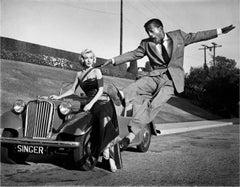 Sammy Davis Jr. Leaps for Marilyn Monroe Fine Art Print