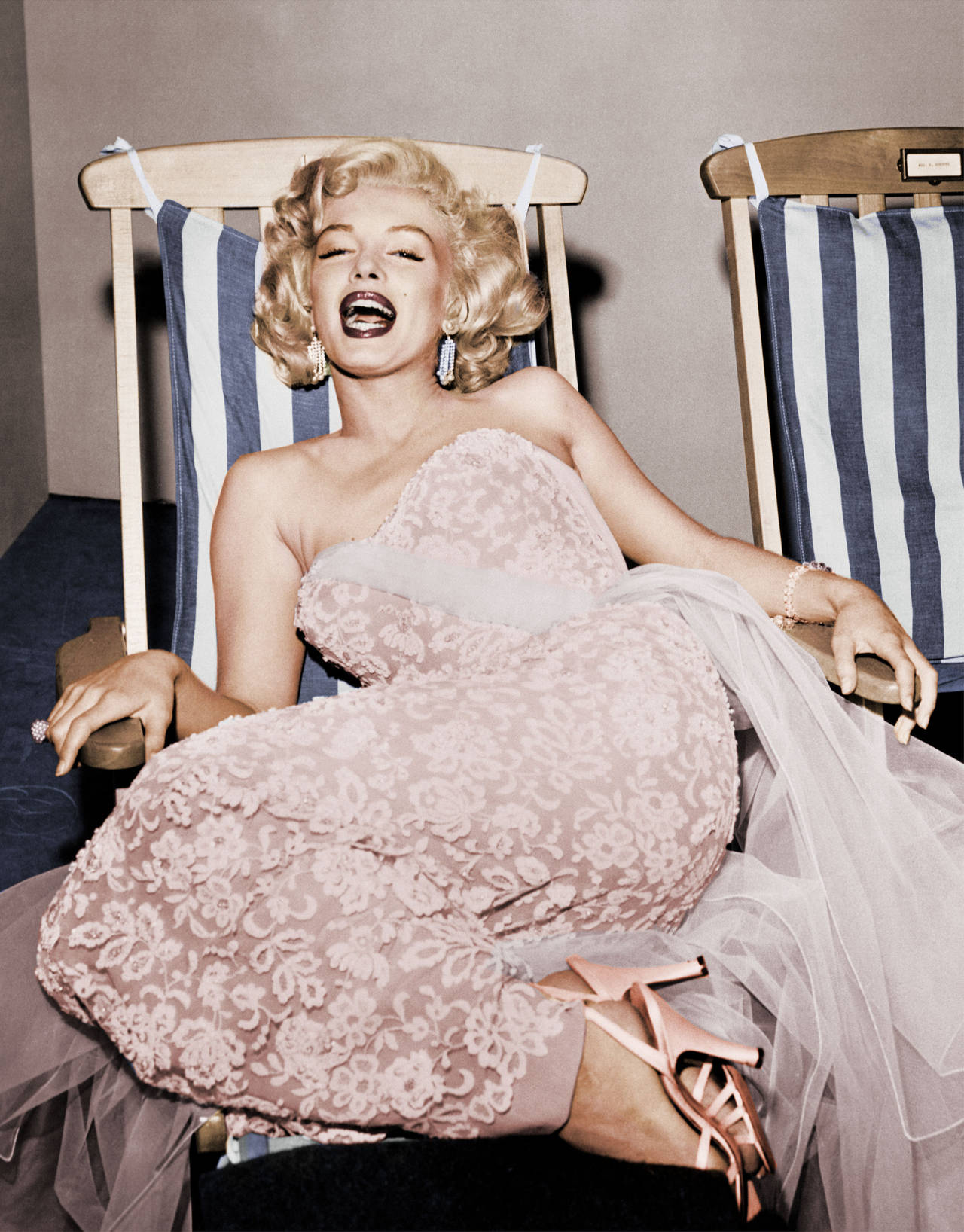 Frank Worth Marilyn Monroe On Deck Chair Photograph At