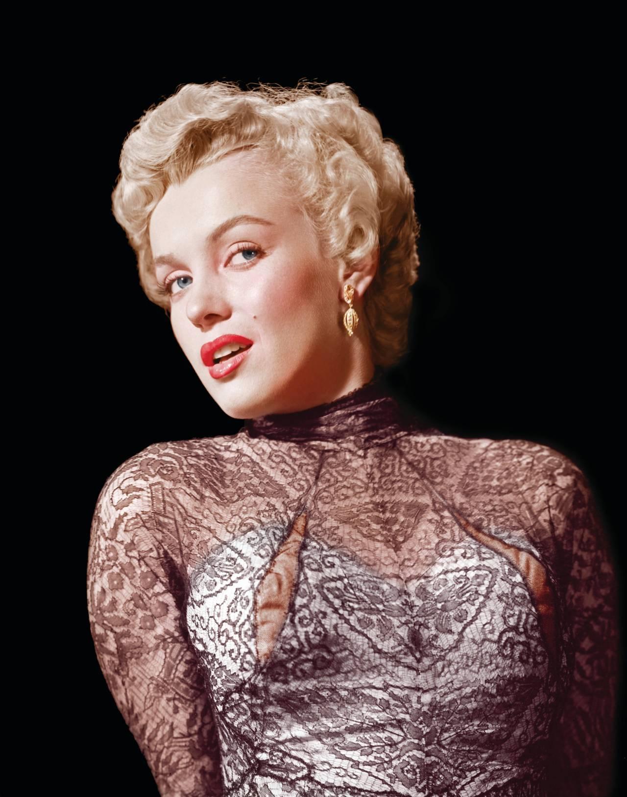 Ernest Bachrach Marilyn Monroe Rare Colorized Closeup Fine Art