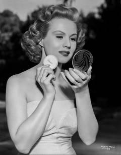 Virginia Mayo Applying Makeup Fine Art Print
