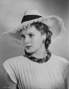 "Maureen O'Hara in the Film ""They Met in Argentina"" Fine Art Print"