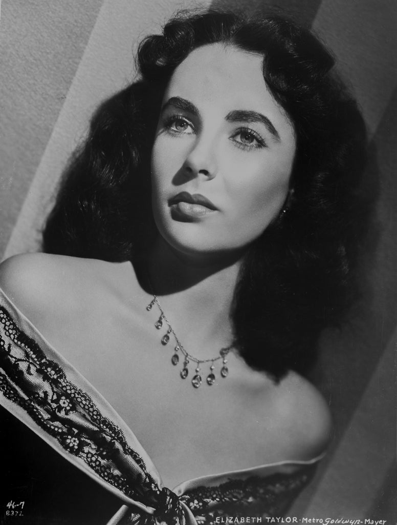 Clarence Sinclair Bull Black and White Photograph - Elizabeth Taylor Looking Upward Fine Art Print
