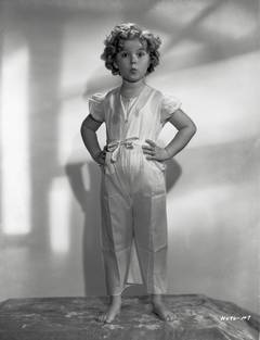 Shirley Temple Standing in Pajamas Fine Art Print