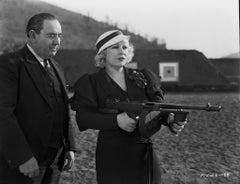 Mae West Shooting Gun Fine Art Print