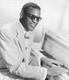 Ray Charles at the Piano Fine Art Print