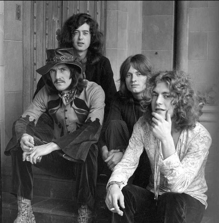 Jay Thompson Black and White Photograph - Led Zeppelin Chateau Marmont 1969