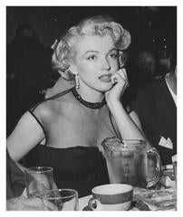 Marilyn Candid at dinner