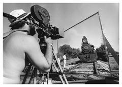Frances Ford Coppola on the set