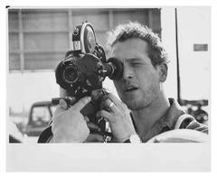 Paul Newman on the set
