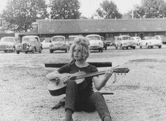 Brigitte Bardot Playing Guitar Fine Art Print