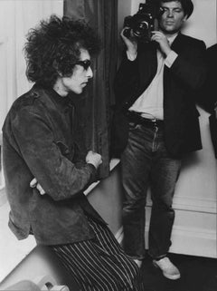 Bob Dylan Backstage with Photographers Fine Art Print