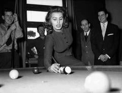 Unknown - Sophia Loren Shooting Pool