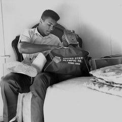 Muhammad Ali Packing His Olympic Team Duffel Bag Fine Art Print