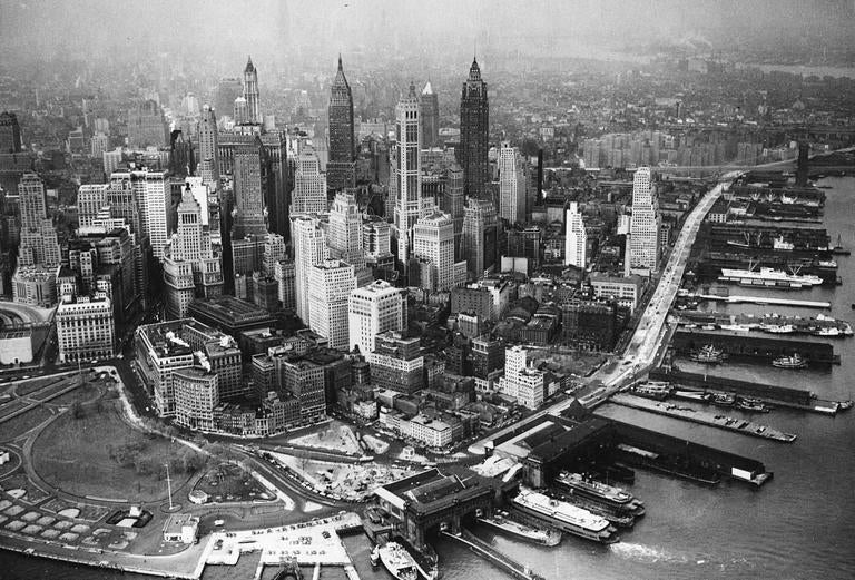 Unknown Downtown Manhattan Circo 1940 S Photograph For