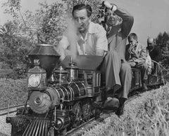 Walt Disney and his Model Train Fine Art Print