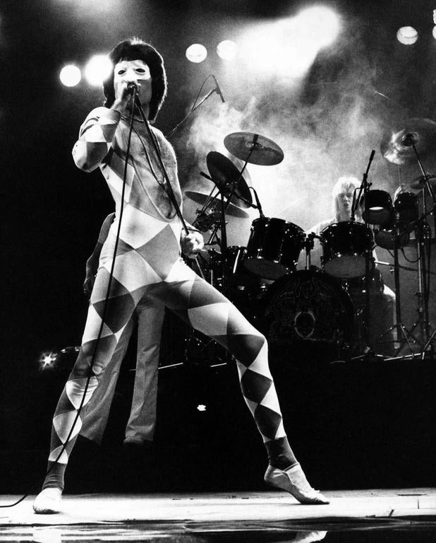 unknown queen frontman freddie mercury performing on stage fine