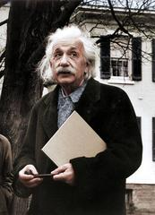 Einstein Looking Up - Colorized Fine Art Print