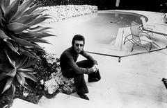 John Lennon Relaxing Poolside Fine Art Print