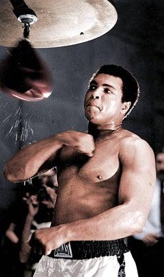 Muhammad Ali Training, Colorized Fine Art Print