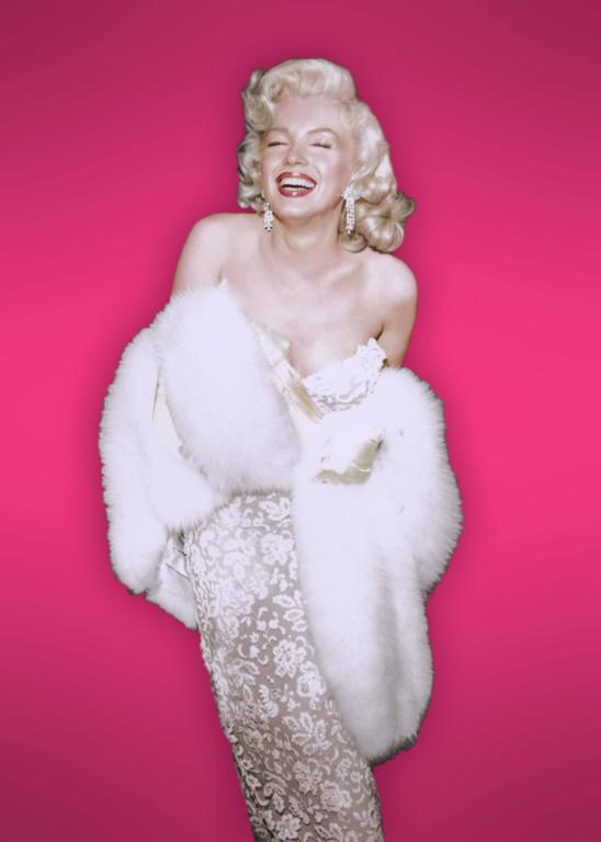 Marilyn Monroe Smiling With Hot Pink Background Fine Art Print
