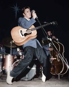 Elvis, The King on Stage, Colorized Fine Art Print
