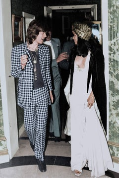Mick Jagger and Bianca Hand Colorized Fine Art Print