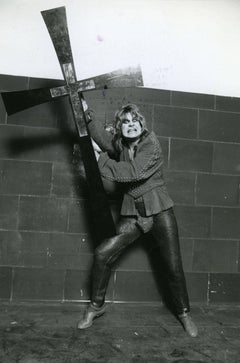Ozzy Osbourne with Cross Vintage Original Photograph