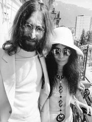 John and Yoko Wearing White Fine Art Print