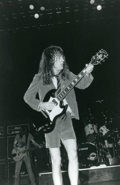 Angus Young Live in Concert Vintage Original Photograph