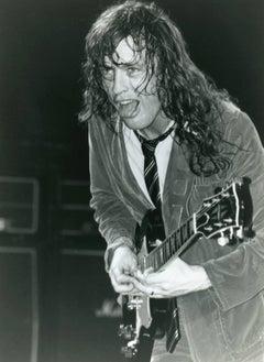 Smiling Angus Young Vintage Original Photograph