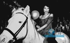Bianca Jagger Riding a horse in Studio 54 1978