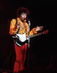 Jimi Hendrix talking to crowd at Monterey Pop Festival 1967