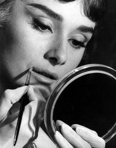 Audrey Hepburn Applying Makeup Glamour Shot Fine Art Print