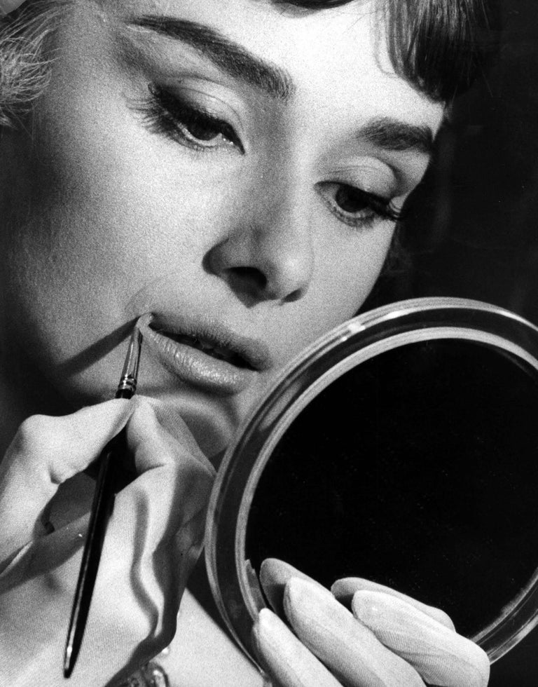 Per Olow Anderson Audrey Hepburn Applying Makeup Glamour Shot Fine