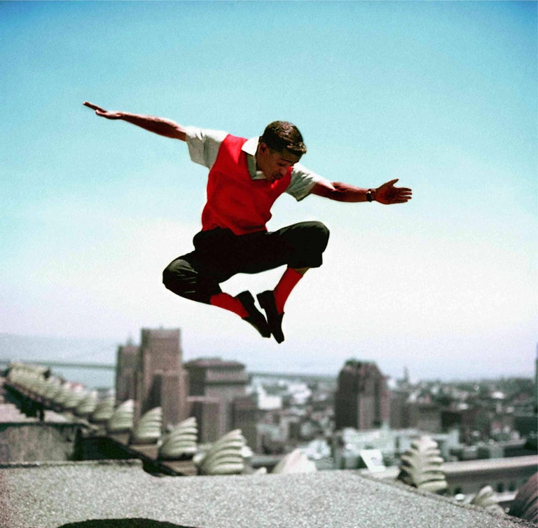 Sammy Davis Jr. Jumping - Colorized Fine Art Print
